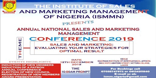 ANNUAL NATIONAL SALES AND MARKETING MANAGEMENT CONFERENCE 2019