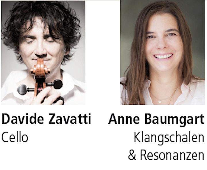 Live-Konzert mit Davide Zavatti (Cello) und Anne Baumgart (Klangschalen): Bild