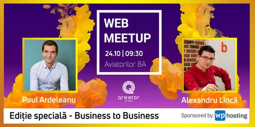 WebMeetup #7 - Business to Business