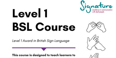 Level 1 Award in British Sign Language