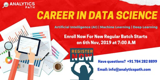 Sign Up For New Regular Batch On Data Science From 6th Nov @ 7 am