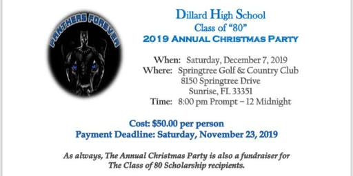 "Dillard High School Class of ""80"" 2019 Annual Christmas  Party"