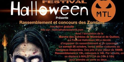 Festival Halloween Mtl. Rassemblement des Zombies