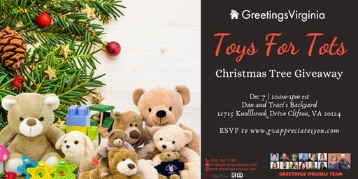 Toys For Tots- Winter Christmas Tree Giveaway