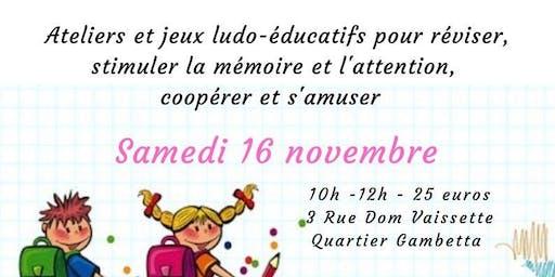 Ateliers et jeux ludo-éducatifs  de 6 à 11 ans