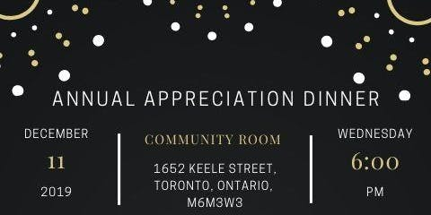 Annual Appreciation Dinner 2019