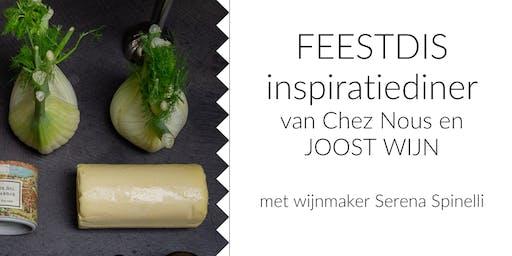 FEESTDIS Inspiratiediner van Chez Nous en Joost Wijn/Uitverkocht!