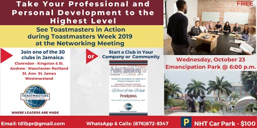 Toastmasters Professional Development & Networking Meeting