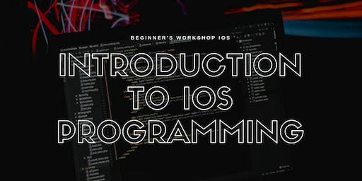 Beginner's Workshop: Introduction to iOS Programming