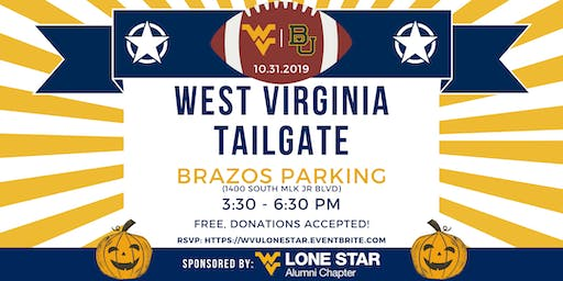 West Virginia vs. Baylor Tailgate | Hosted by: WVU Alumni Lone Star Chapter