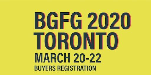 BGFG 2020 Toronto Buyers Registration