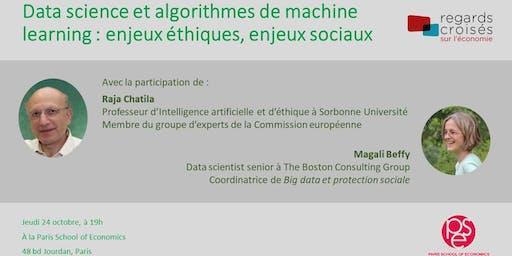 Enjeux éthiques et sociaux des algorithmes de machine learning