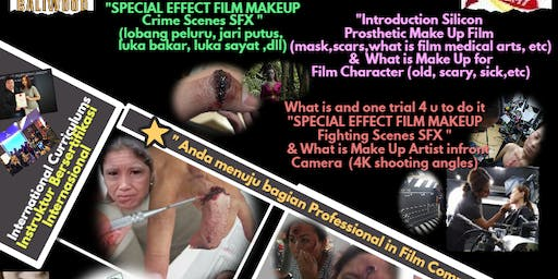testing class SFX(special effect) Make up Film, Denpasar