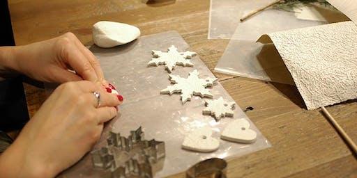 Festive handmade clay decorations