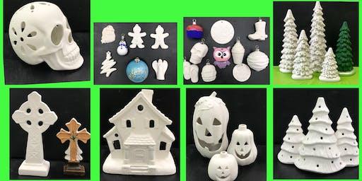 "Adult Open (18yrs+) ""Paint & Go Ceramics"""