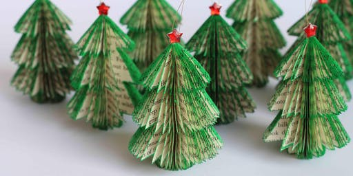 Papercut Christmas Tree Decorations