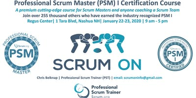 Scrum.org Professional Scrum Master (PSM) I - Nashua NH - Jan 22-23, 2020
