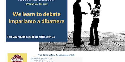 Paura di parlare in pubblico? Partecipa a Toastmasters: Prove di Dibattito