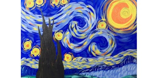 Something Gogh Painting in Canvas Starry Night by Van Gogh