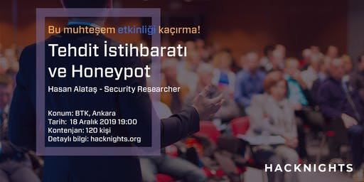 Tehdit İstihbaratı ve Honeypot | hacknights.org