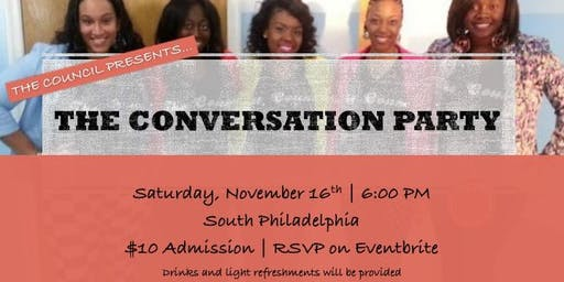 The Council Presents...The Conversation Party