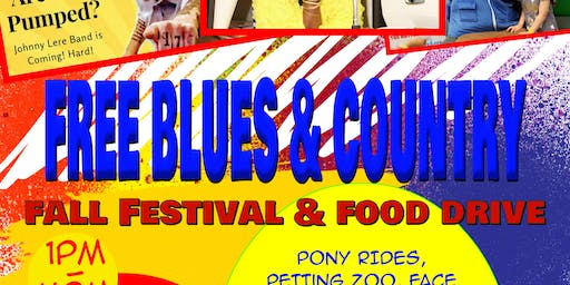 FREE Blues/Country Fall Festival & Food Drive