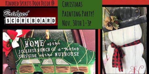 Holiday Painting at Bridges Scoreboard Restaurant & Sports Bar