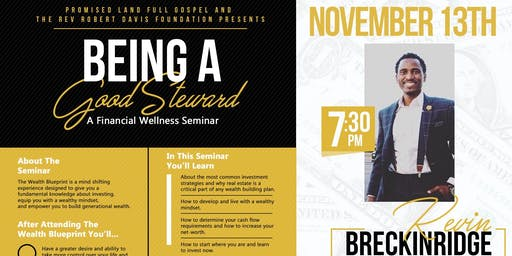 "Being A Good Steward ""A Financial Wellness Seminar"""