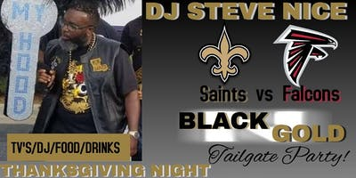 DJ Steve Nice Saints vs Falcons Black & Gold Tailgate 2019
