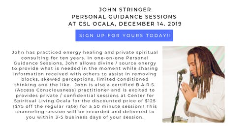 John Stringer Personal Guidance Session