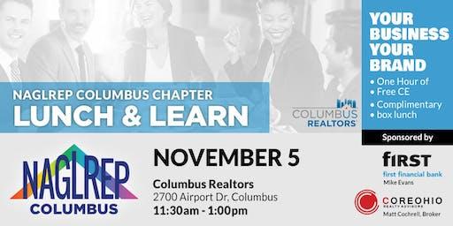 NAGLREP Columbus Lunch & Learn Earn 1 Hour CE Credit Nov 5
