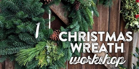 """Winter Wreath Making Workshop - 2 options $50 for 16"""" or $75 for 22"""" tickets"""