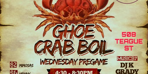 GHOE SEAFOOD BOIL : WEDNESDAY PREGAME EDITION
