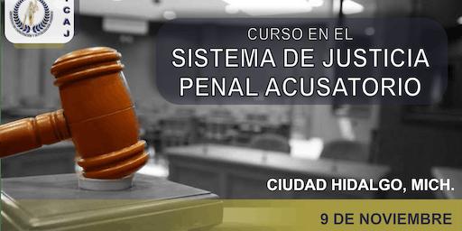Curso en el Sistema Procesal Penal Acusatorio