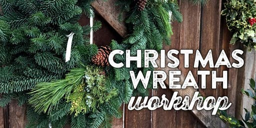 "Winter Wreath Making Workshop - 2 options $50 for 16"" or $75 for $22"""