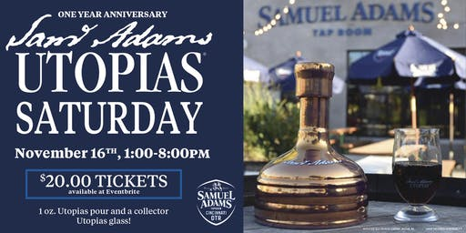 SATURDAY Cincinnati Taproom's 1 Year Anniversary with Utopias
