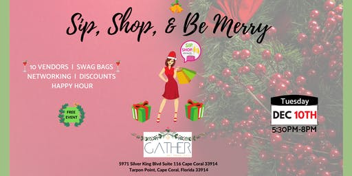 Sip, Shop & Be Merry