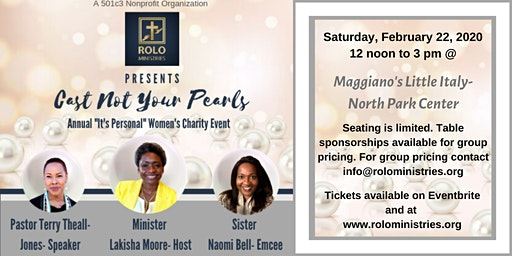 """""""Cast Not Your Pearls""""- ROLO Ministries Annual Women's Conference"""