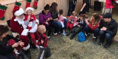 Santa Visits the Goat Farm