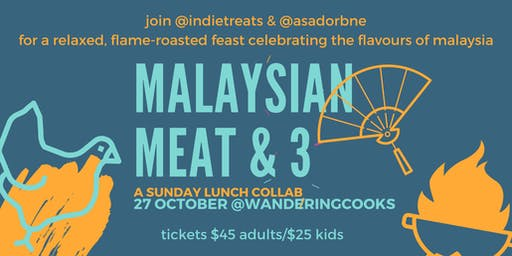 Malaysian Meat & 3 fire-roasted Sunday lunch collab at Wandering Cooks