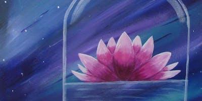Lotus flower in a jar