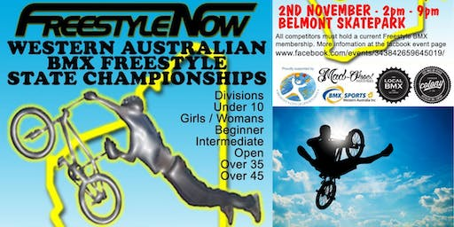 WA BMX Freestyle State Championships - hosted by Freestyle Now