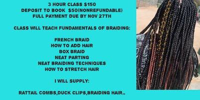 101 beginner braiding class