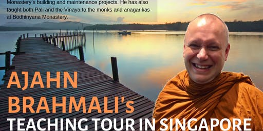 "New Year Day Special Retreat on ""Satipaṭṭhāna - Four Applications of Mindfulness"" by Ajahn Brahmali (For BF Members Only)"