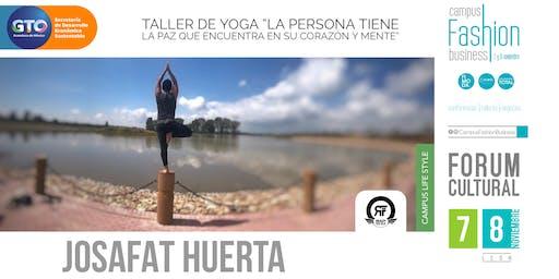 """Taller de yoga """"La persona tiene La Paz que encuentra en su corazón y mente"""
