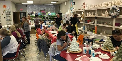 Ceramic Christmas Tree Sale and paint party!
