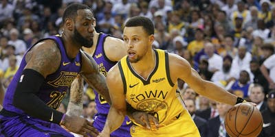 Golden State Warriors vs LA Lakers French Quarter New Orleans Viewing