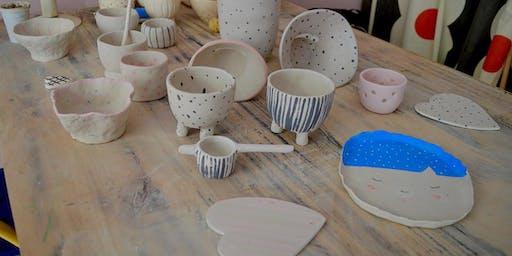 Do it Your self - stage de poterie et peinture durant vacances de la Toussaint pour les enfant.
