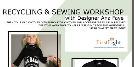 FUNRAISING UPCYCLING FASHION DESIGN  AND SEWING  WORKSHOP