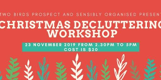 Christmas Decluttering Workshop